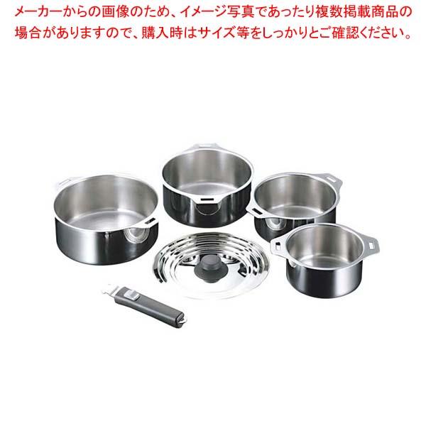 18-0 フィットパン鍋4点セット T41 【メイチョー】