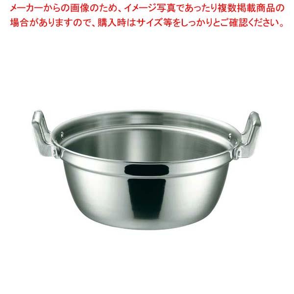 K 19-0 電磁対応 段付鍋 42cm 【メイチョー】【 IH・ガス兼用鍋 】