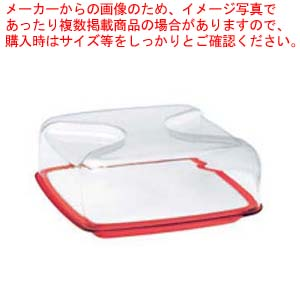 グッチーニ カッティングボード&ドーム 正方形(L)270000 65レッド 【メイチョー】