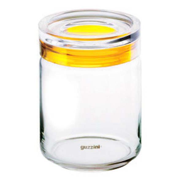グッチーニ ガラスジャー1000cc 285516 88レモンイエロー 【メイチョー】【 オーブンウェア 】