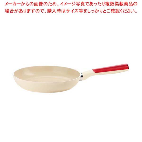 グッチーニ IHフライパン20cm 227810 65レッド 【メイチョー】