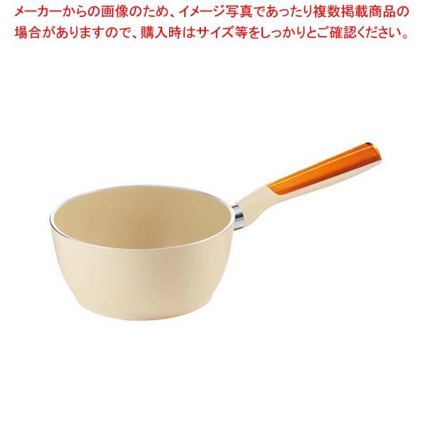 グッチーニ IH片手ソースパン20cm 227911 45オレンジ 【メイチョー】