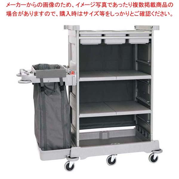 樹脂静音メイドサービスワゴン シングル EKT-1 【メイチョー】カート・台車