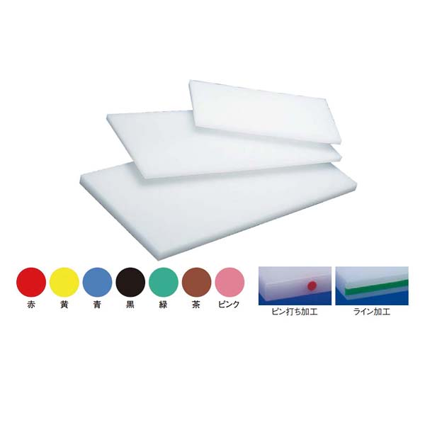 住友 抗菌 プラスチック まな板(カラーライン付)MW-1 青 【メイチョー】まな板