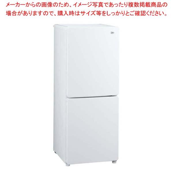 ハイアール 2ドア冷凍冷蔵庫 JR-NF148B(W) 【メイチョー】冷温機器