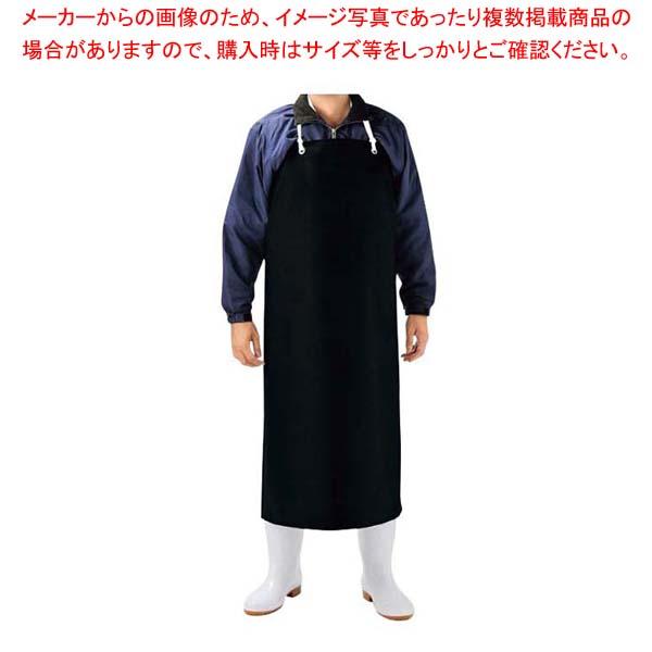耐溶剤エプロン胸付 AF-3200 黒 【メイチョー】ユニフォーム