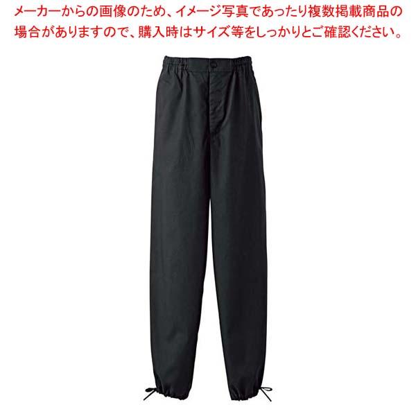 作務衣パンツ EL3378-8(男女兼用)黒 LL 【メイチョー】ユニフォーム