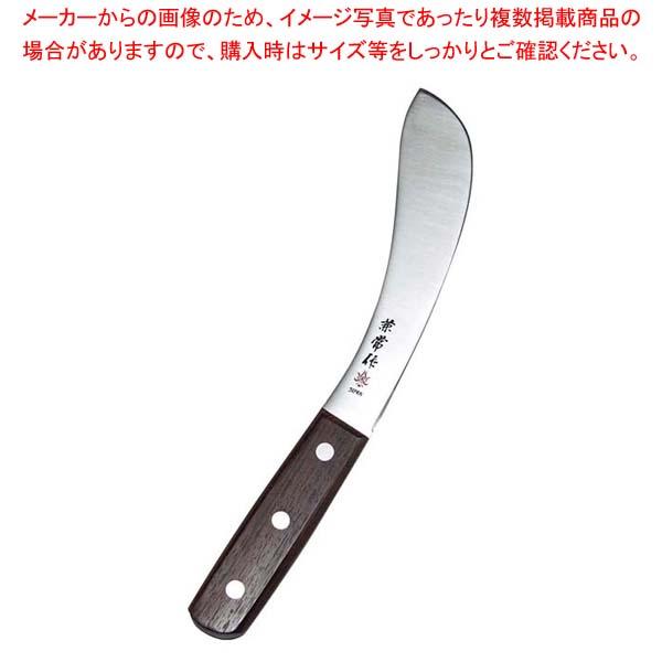 兼常作 ローズ柄 皮剥ぎ 170mm 【メイチョー】庖丁