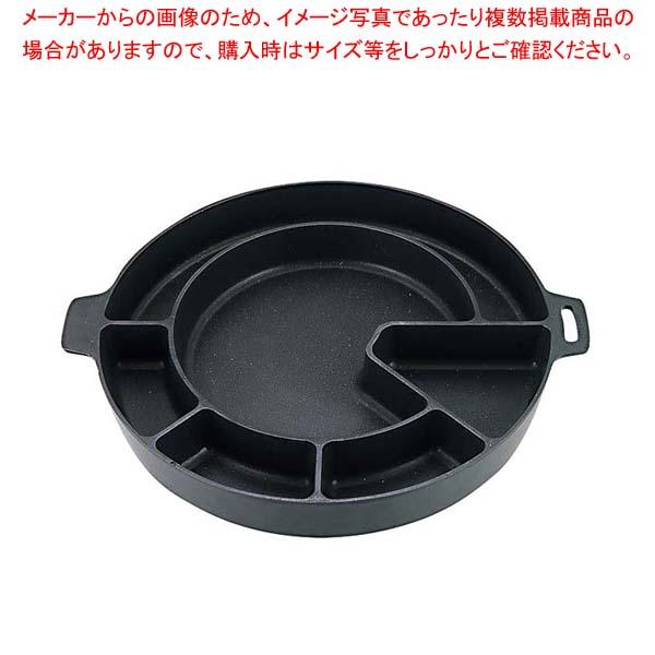 ダッカルビ鍋 変形仕切 直火・IH両用 92986187 5-1005-3 【メイチョー】卓上鍋・焼物用品
