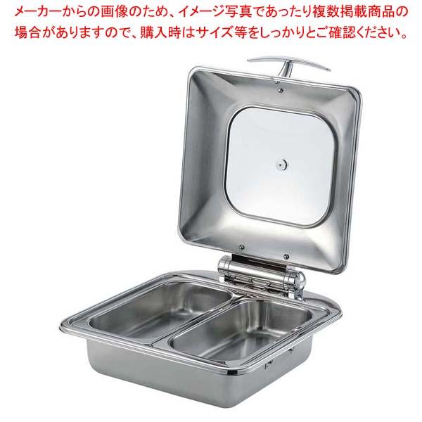 SX チューフィングディッシュ 2/3サイズ ダブル(ステンレス仕様) 【メイチョー】ビュッフェ関連