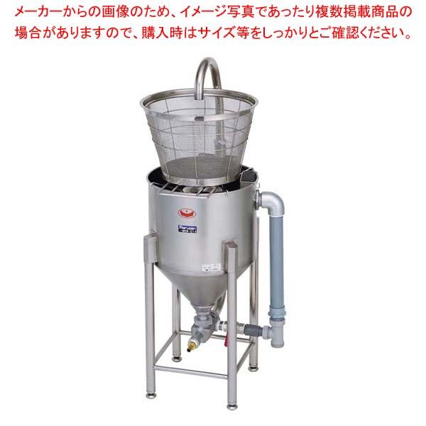 ドラフト式 水圧洗米機 28kg MRW-D28 【メイチョー】棚・作業台