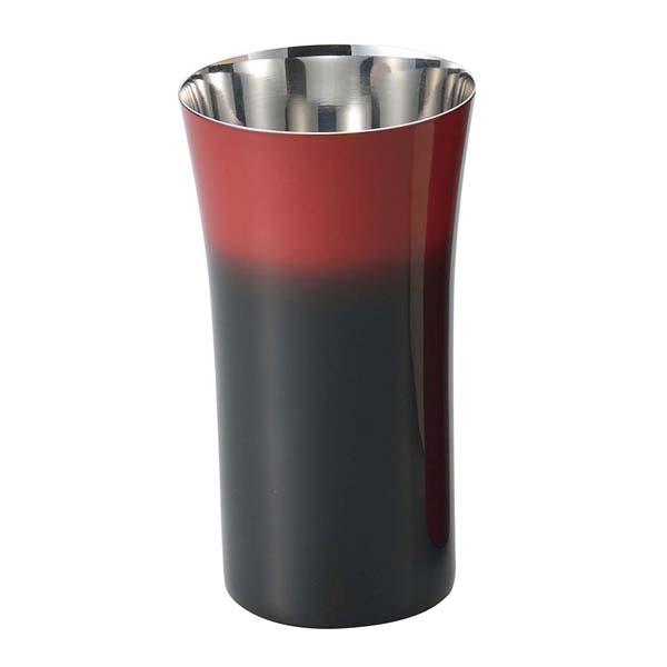 漆磨 シングルカップS 240ml 黒彩 SCS-S601 【メイチョー】グラス・酒器