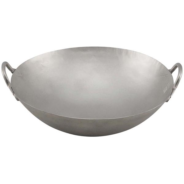 チタン 打出 中華両手鍋 33cm 窒化加工なし 【メイチョー】鍋全般