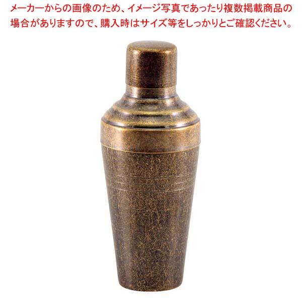 レトロ 18-8 カクテルシェーカー 510cc ゴールド 【メイチョー】グラス・酒器
