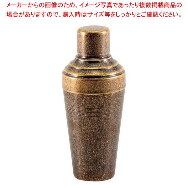 レトロ 18-8 カクテルシェーカー 410cc ゴールド 【メイチョー】グラス・酒器
