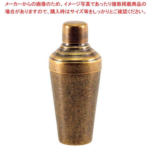 レトロ 18-8 カクテルシェーカー 250cc ゴールド 【メイチョー】グラス・酒器
