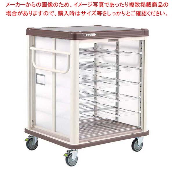 エレクター COO常温配膳車 シャッター式 リフトタイプ JCSL20CB カフェブラウン 【メイチョー】カート・台車