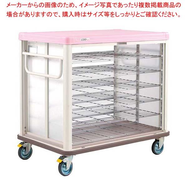エレクター COO常温配膳車 シャッター式 ベーシックタイプ JCSB42SP シュガーピンク 【メイチョー】カート・台車
