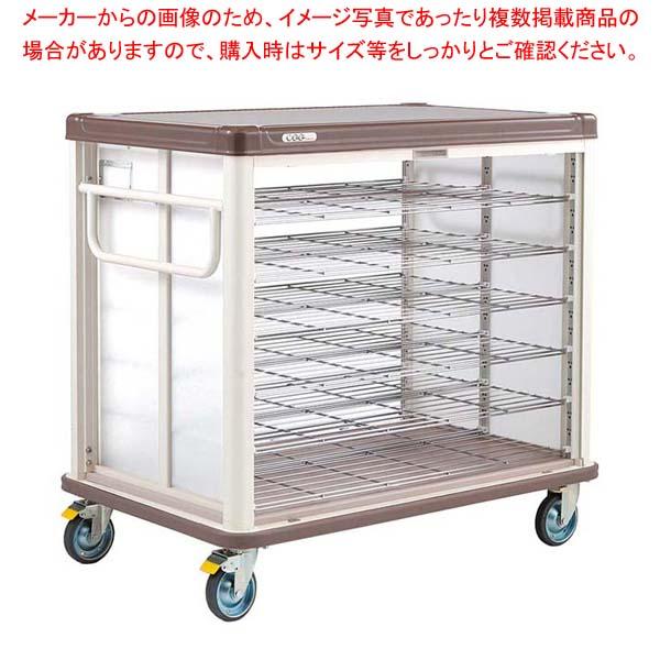 エレクター COO常温配膳車 シャッター式 ベーシックタイプ JCSB42CB カフェブラウン 【メイチョー】カート・台車