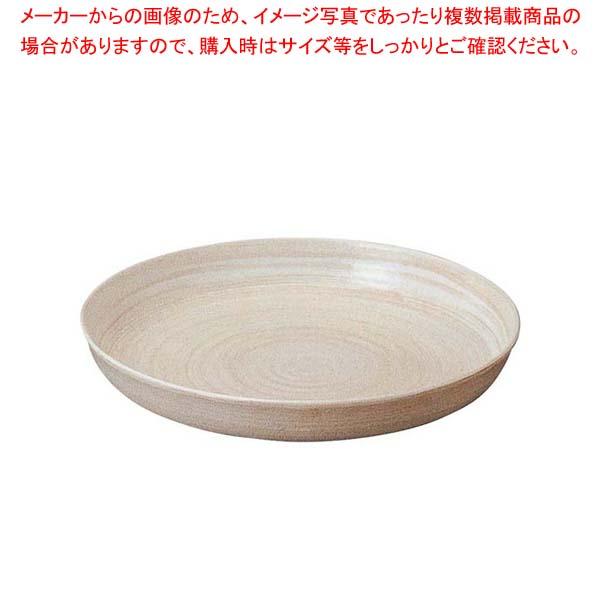 アルミ 電磁用 深型ドラ鉢(白刷毛目)尺2 【メイチョー】ビュッフェ関連