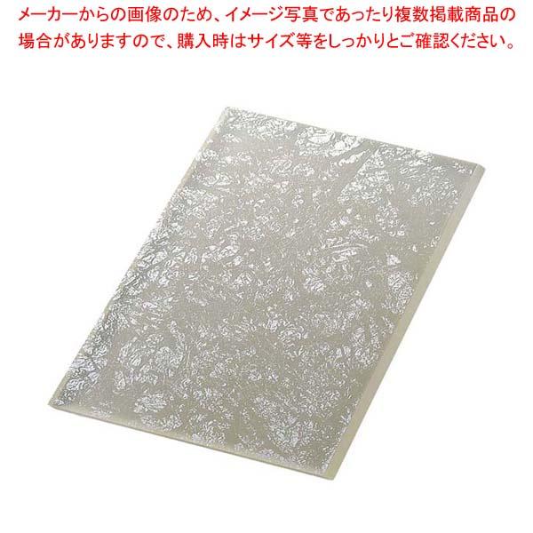 ライクガラス レクタングルプレート 銀箔 1202337 【メイチョー】和・洋・中 食器