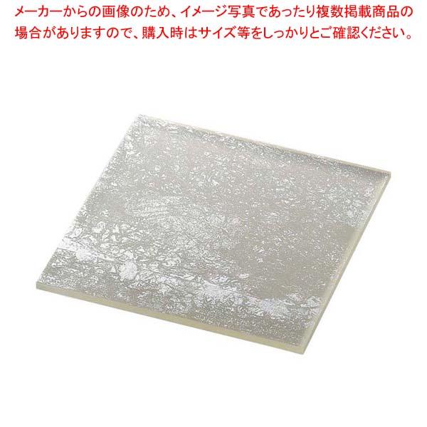 ライクガラス スクウェアプレート M 銀箔 1202399 【メイチョー】和・洋・中 食器