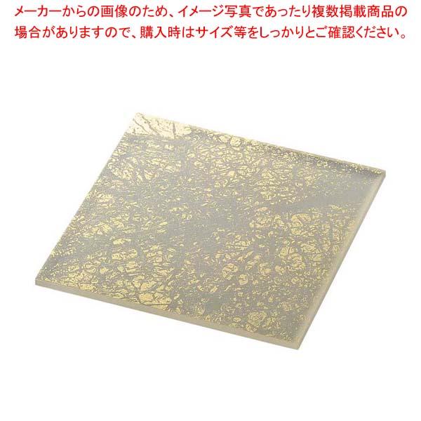ライクガラス スクウェアプレート M 金箔 1202402 【メイチョー】和・洋・中 食器