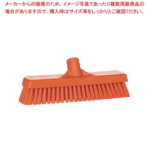ヴァイカン デッキブラシ ハードタイプ 70607 オレンジ 【メイチョー】清掃・衛生用品