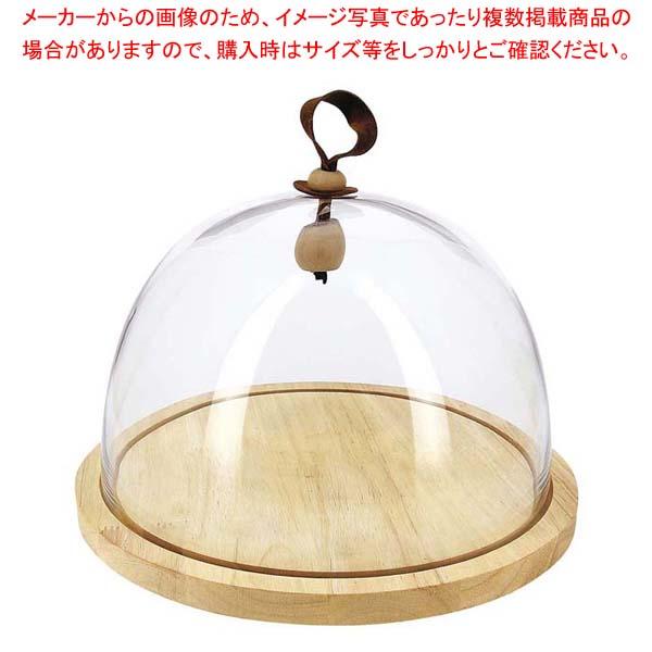 レヴォル タッチ ガラスドーム 木台セット 大 650898 【メイチョー】和・洋・中 食器