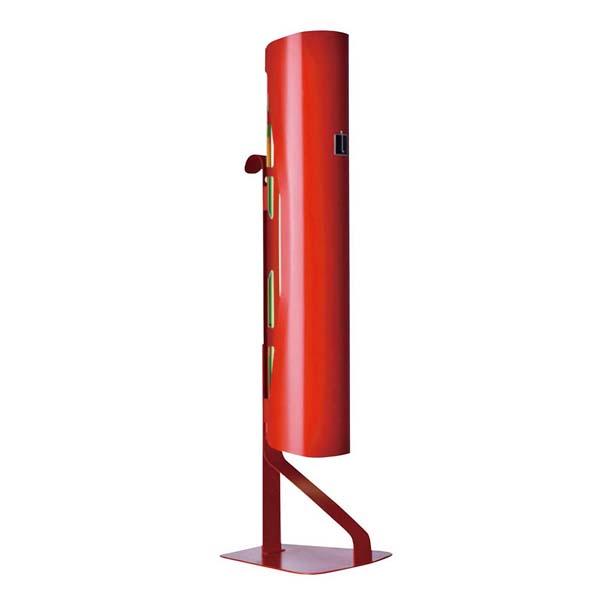 ルイクスS インテリア捕虫器 本体 レッド 50Hz 【メイチョー】店舗備品・防災用品