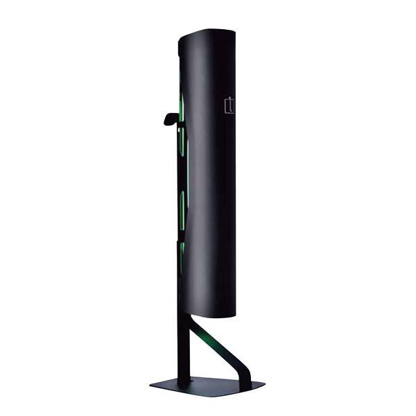 ルイクスS インテリア捕虫器 本体 ブラック 60Hz 【メイチョー】店舗備品・防災用品