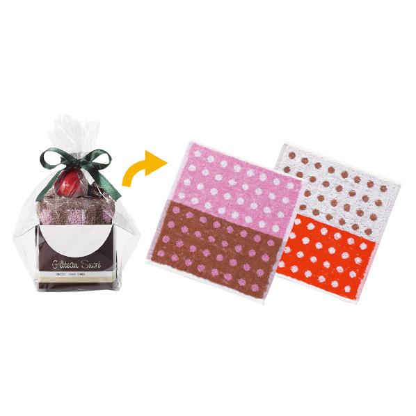 ケーキタオルハンカチ カップケーキ80個 【メイチョー】