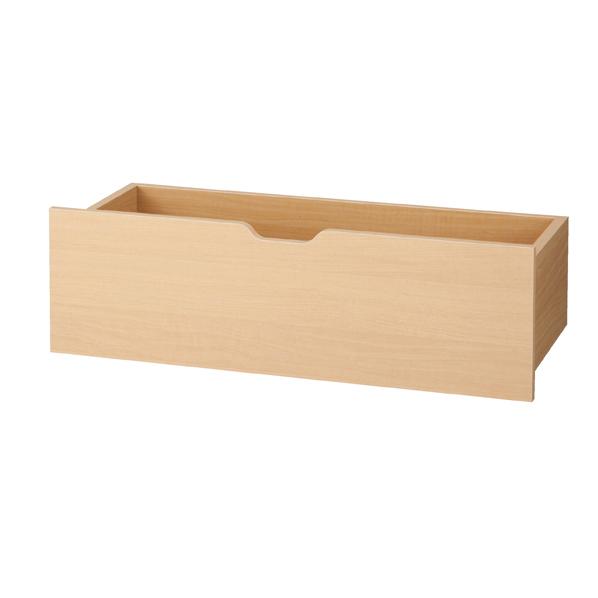 浅型木製収納トロッコ W90×H28cm エクリュ 【メイチョー】