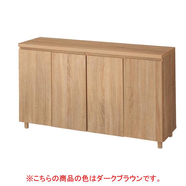 木製収納BOX ハイ/丸棒脚 ダークブラウン W120cm 【メイチョー】