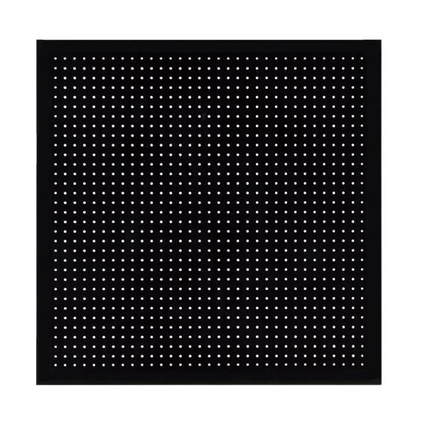 有孔ボードパネル 90×90 ブラック 壁面取付金具セット 【メイチョー】