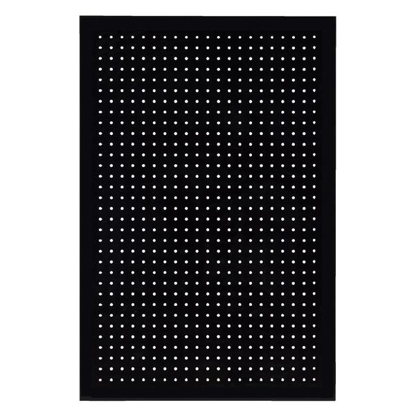 有孔ボードパネル 60×90 ブラック 1枚 スリット取付金具セット 【メイチョー】