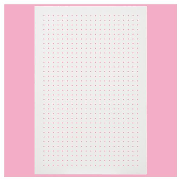 有孔ボードパネル 60×90 ホワイト 1枚 スリット取付金具セット 【メイチョー】