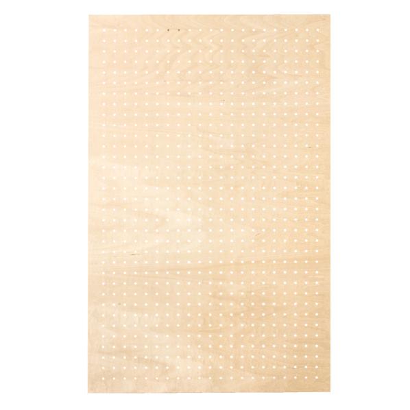 有孔ボードパネル 60×90 シナ クリア塗装 スリット取付金具セット 【メイチョー】