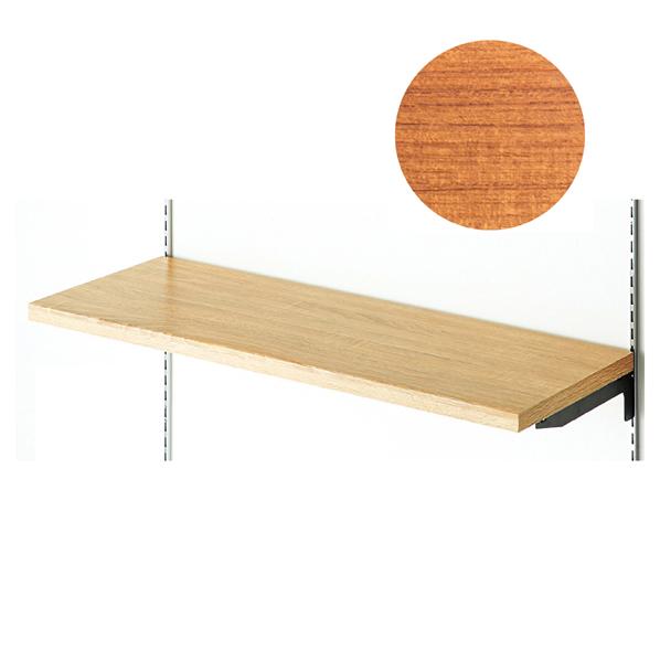 ラッピング木棚W120×D35cmレディッシュBR 【メイチョー】