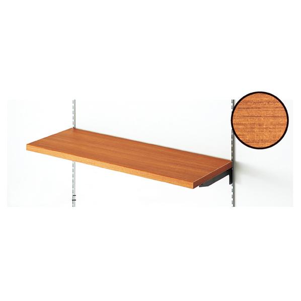 木棚セットW120×D35cm レデッシュブラウン 【メイチョー】