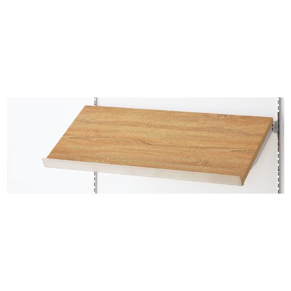 傾斜木棚セットW120×D30cm ラスティック SUSコボレ止+木棚+傾斜木棚ブラックT×2 【メイチョー】