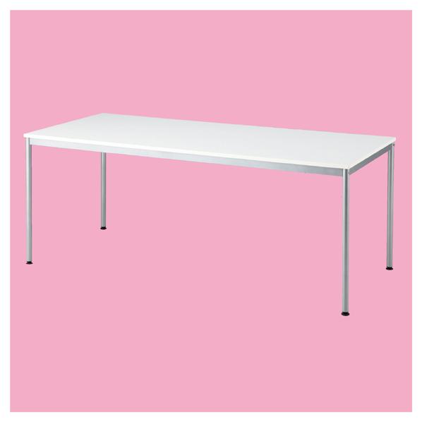 ミーティングテーブルW180×D80cm ホワイト 【メイチョー】