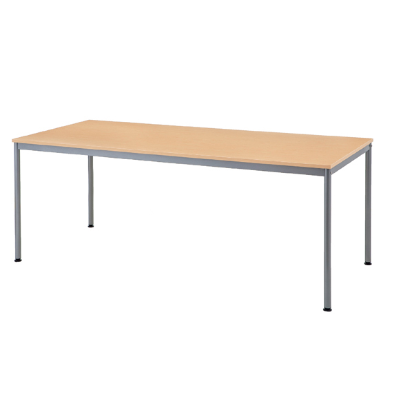 ミーティングテーブルW180×D80cm ナチュラル 【メイチョー】