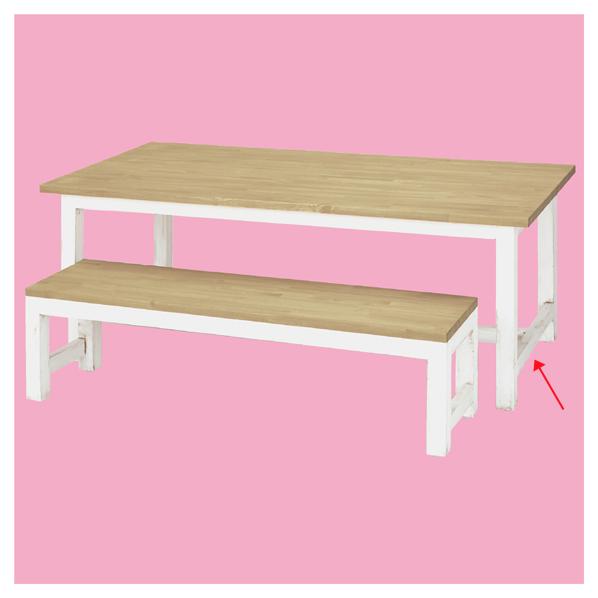 ナチュラルクラフトテーブルW120cmハイタイプ 【 店舗什器 ディスプレイ用テーブル テーブル(木製天板) テーブル ハイタイプ 】【メイチョー】