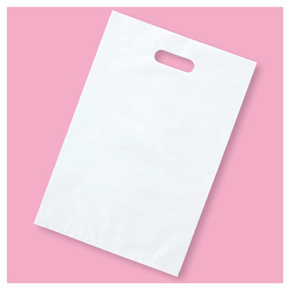 ポリ袋ハード型 白 40×50cm 1000枚 【 ラッピング用品 レジ袋・ポリ袋 スクエアバッグ(無地) ポリ袋ハード型 白 】【メイチョー】