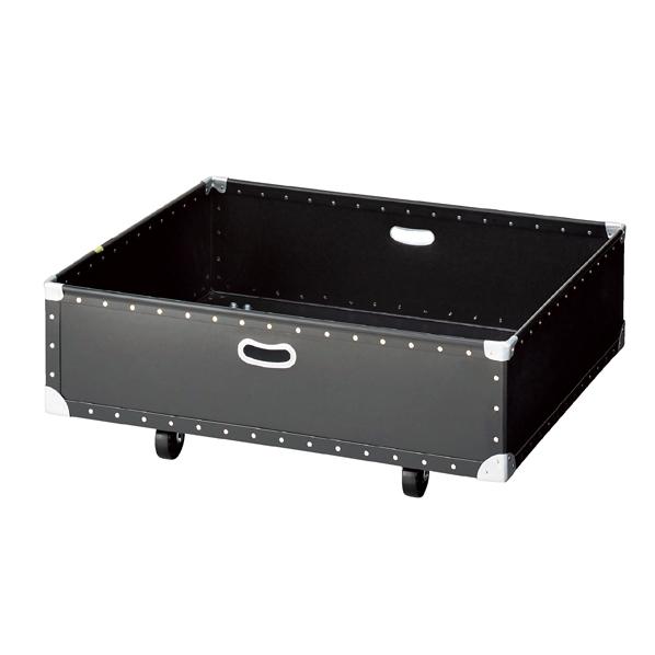 ステップテーブル用収納ボックス小 黒 【 店舗什器 ボックス・バスケット ファイバーボックス ステップテーブル用収納ボックス 小 】【メイチョー】