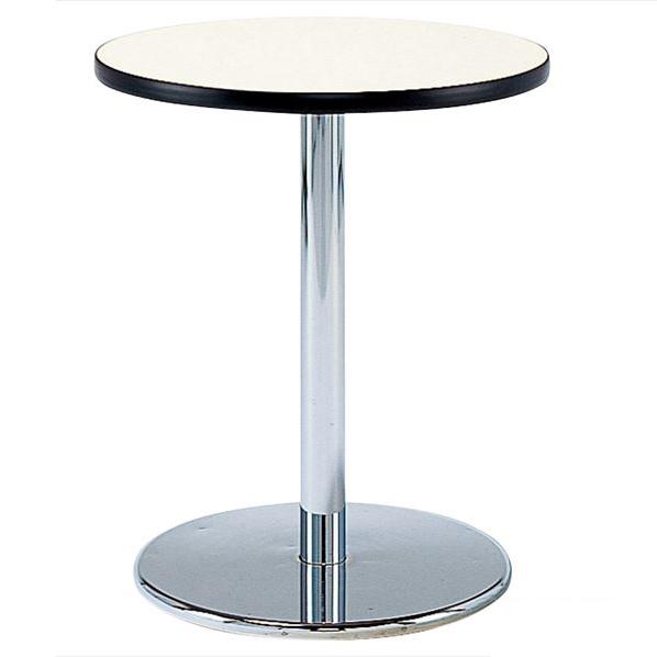 丸型テーブル メッキ脚 直径90cm ホワイト 【メイチョー】