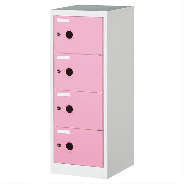 フリーボックス 4段 ピンク 1台 【メイチョー】