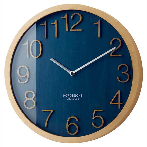 壁掛け時計ブロック ネイビー 1台 【メイチョー】