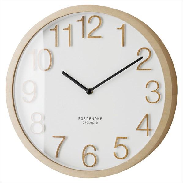壁掛け時計ブロック ホワイト 1台 【メイチョー】
